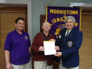 Morristown_Lion_Billy_Massey_recognized_for_50_years_of_service